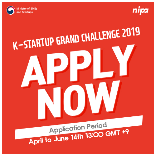 K-Startup Grand Challenge 2019 apply now.